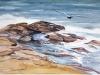 Surf at Eden Pines II, watercolor, 21x26, Allen Taylor