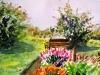 """Scotland Overlook at Loch Lomond, Watercolor, 10\""""x12\"""", Hana Aviv"""