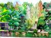 "Trees at the Hedges, Watercolor, 6\""x10\"", Hana Aviv"