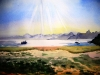 "Noon in Baja, Watercolor, 10\""x12\"", Hana Aviv"