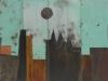 _1.Blue Moon Light 12-06, Mixed Media on Scrap Metal, 58 x 80in
