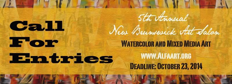 Call for Artists: New Brunswick Art Salon, Fall 2014 – Mixed Media & Watercolors