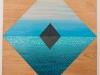 Tat Tat, acrylic, spray paint and gouache on wood, 8.75x9.5, Ethan Sherman