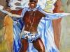 Bo Jangles, watercolor, 30x22, Judy Ballance