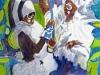 Cheerleaders, watercolor, 30x22, Judy Ballance