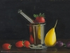 Pear-and-Strawberry-in-a-Steel-Mortar-and-Pestle