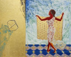 2013 Gold leaf, natural and mineral pigments in casein distemper, Strasbourg turpentine and oil on linen on panel. Diptych: 70 x 86.3 cm / 27.6 x 34 ins.